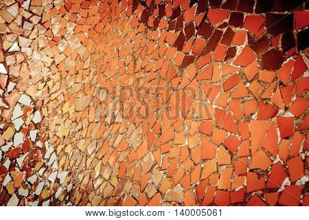 Ceramic Tile Fragment Mosaic, Abrstract Background