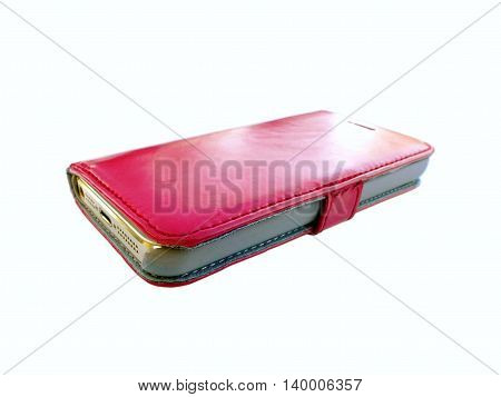 Bright Pink Used Mobile Phone Case With Some Signs Of Use