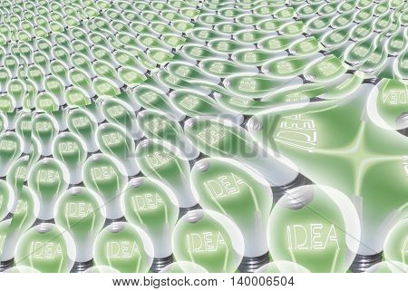 Idea Bulb Abstract 3D Render