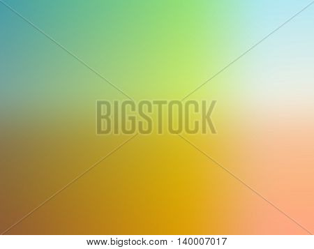 Abstract gradient yellow green orange colored blurred background