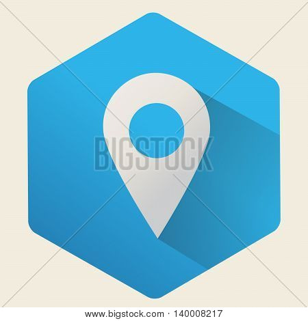 flat  icon  gps location, vector isolated symbol.