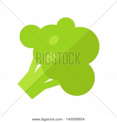 Broccoli vector in flat style design. Vegetable illustration for conceptual banners, icons, app pictogram, infographic, and logotype elements. Isolated on white background. Isolated on white.