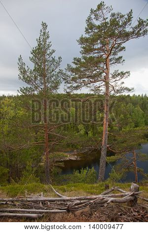 Valaam. Sortavala area. Russian Federation. View from the mountain Eleon.
