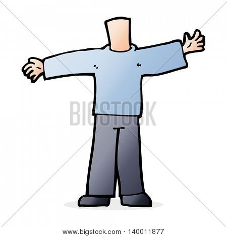 cartoon body with open arms  (mix and match cartoons or add own photos)