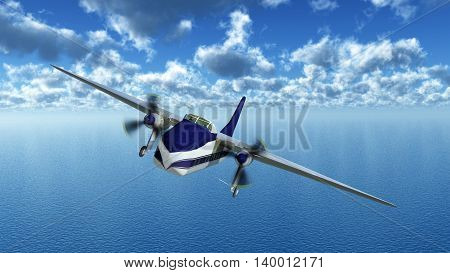 Computer generated 3D illustration with a British cargo aircraft of the 1940s