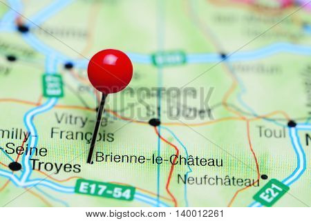 Brienne-le-Chateau pinned on a map of France