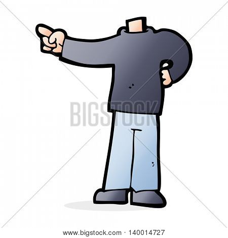 cartoon pointing body (mix and match cartoons or add own photos)