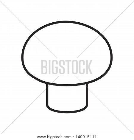 Line icon champignon isolated on white background. Vector illustration.