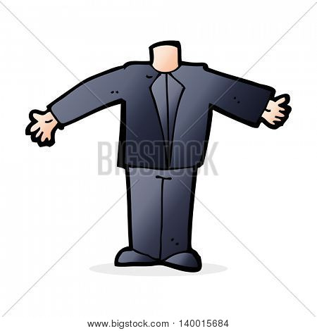 cartoon body in suit (mix and match cartoons or add own photos)