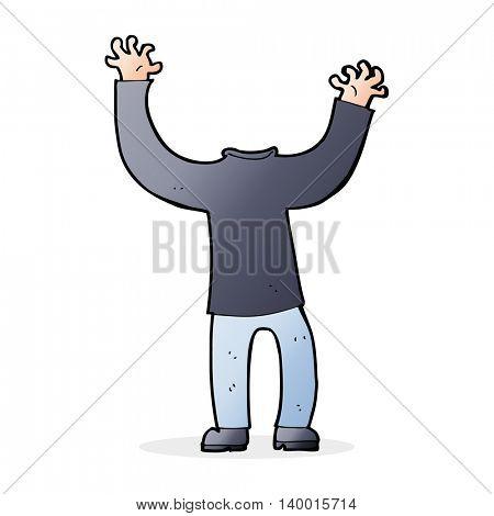 cartoon headless body