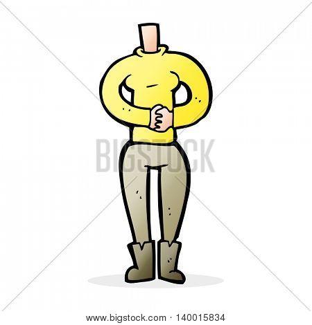 cartoon female body (add photos or mix and match cartoons)