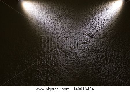 abstract spot light shade on rough wall