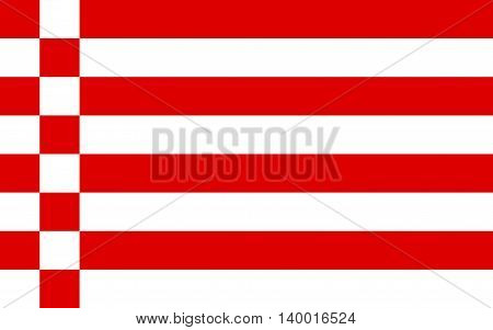 Flag of Free Hanseatic City of Bremen in Germany