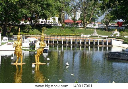 PATTAYA THAILAND -  Mini Siam is a famous miniature park attraction
