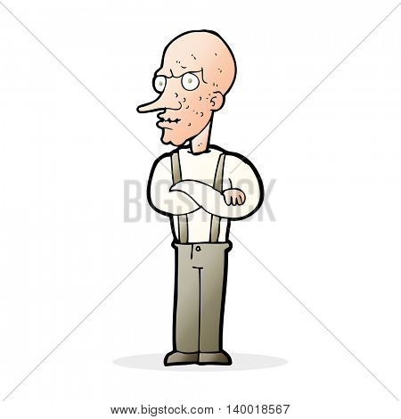 cartoon mean old man