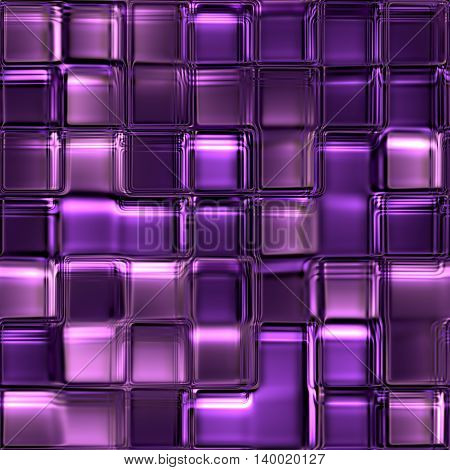 seamless texture of many glossy glass cubes 3d abstract squares 3D illustration