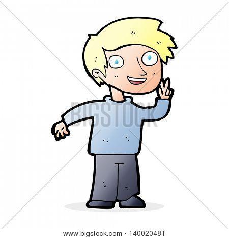 cartoon boy posing for photo