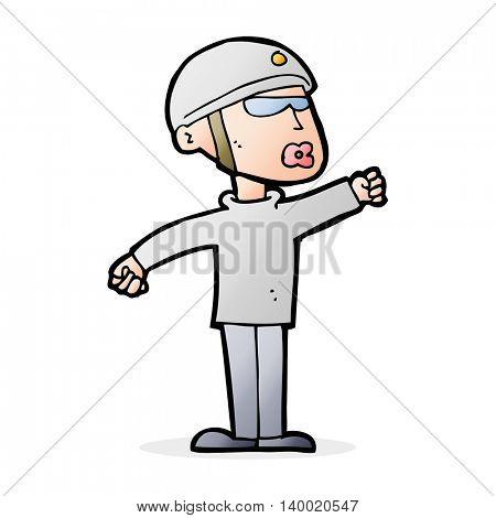 cartoon security guy