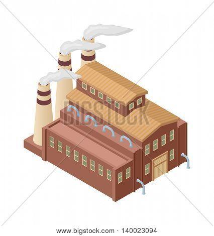 Isometric factory vector illustration