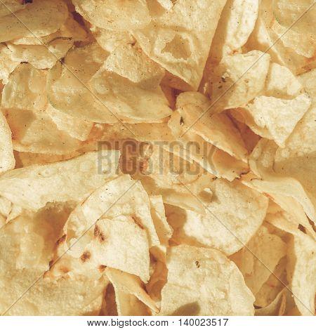 Potato Chips Crisps Vintage Desaturated