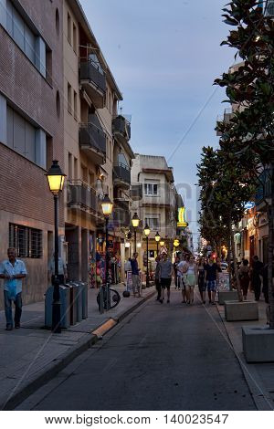By The Evening Streets Of Calella