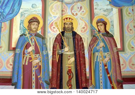 Fresco. Saint Michael's Golden-Domed Cathedral. July 26, 2016 Kiev, Ukraine