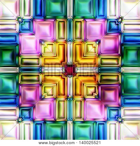 Seamless texture of abstract shiny colorful background 3D illustration