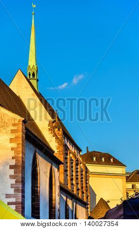 Barfusserkirche church and Historical Museum in Basel - Switzerland
