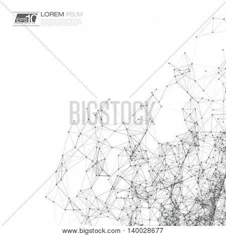 Black and White Mesh Vector Background | EPS10 Design