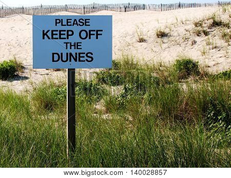 Please Keep Off of the Dunes in Fire Island, LI, NY