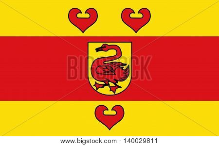 Flag of Steinfurt is a district in the northern part of North Rhine-Westphalia Germany