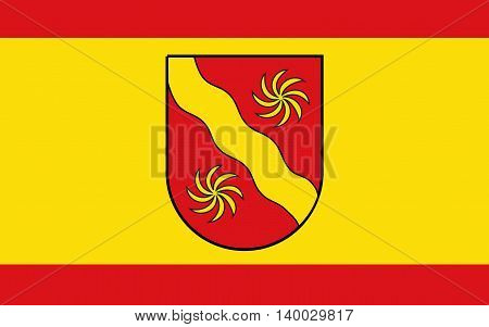 Flag of Warendorf is a district in the northern part of North Rhine-Westphalia Germany.