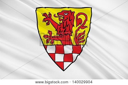 Flag of Unna district is a district in central North Rhine-Westphalia Germany. 3d illustration