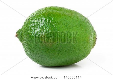 lime isolated on white background close up.