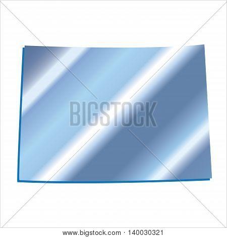 3D Colorado (USA) Iridium Blue outline map with shadow