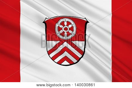 Flag of Main-Taunus is a district in the middle of Hesse Germany. 3d illustration