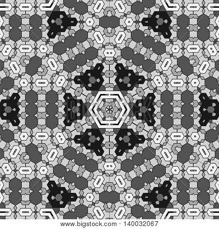 Creative Ornamental Grey Pattern. Geometric Decorative Background