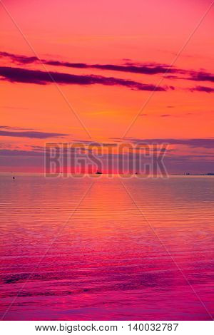 Cloudscape Beach Sunset