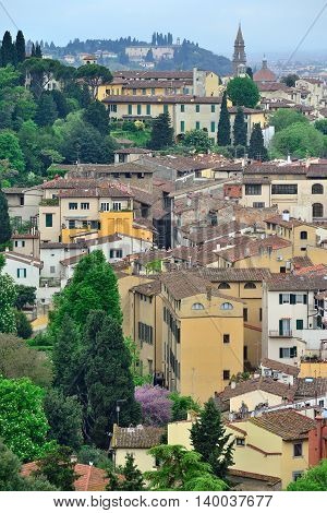 View of Florence city, Tuscany, North Italy