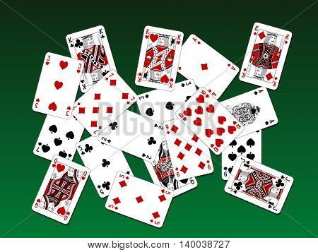 Playing Cards Two Color Classic Design On Deck