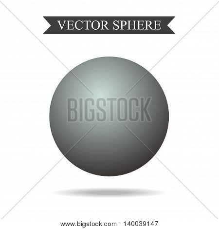 3d Sphere Concept Vector Realistic Illustration Isolated
