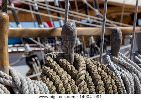 Details Equipment Of Ship On Deck