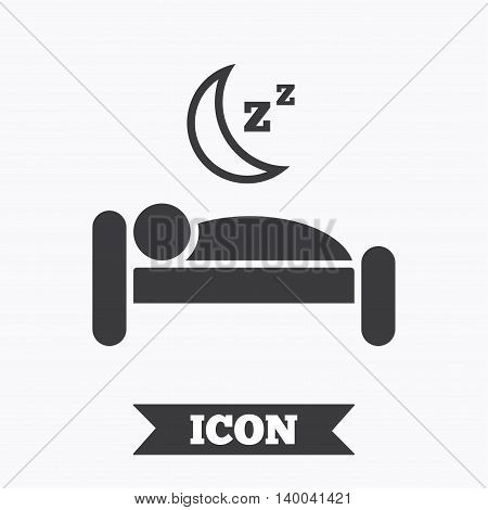 Hotel apartment sign icon. Travel rest place. Sleeper symbol. Graphic design element. Flat hotel symbol on white background. Vector