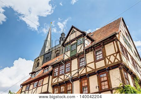 Half-timbered Houses In Quedlinburg, Germany