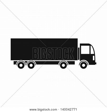 Truck icon in simple style isolated on white background. Transport symbol