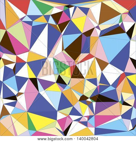 Abstract light colorful Triangle Polygonal Geometrical Background, Vector Illustration EPS10. Geometric design texture. For flyer, banner, leaflet. Blue purple indigo cyan white orange yellow red.