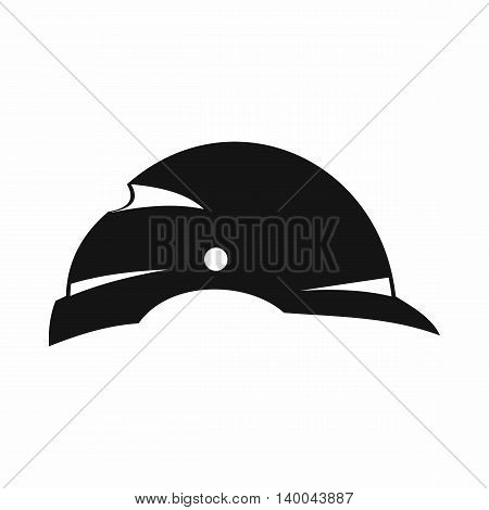 Construction helmet icon in simple style isolated on white background. Equipment symbol