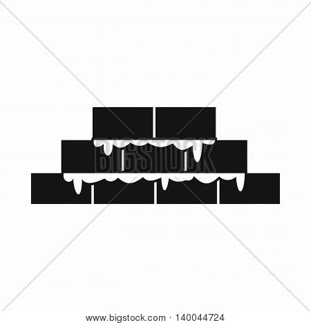 Brickwork icon in simple style isolated on white background. Construction symbol