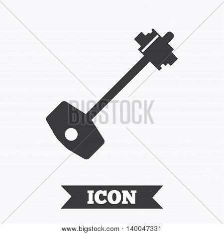 Key sign icon. Unlock tool symbol. Graphic design element. Flat key symbol on white background. Vector
