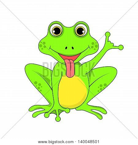 Frog On White Background In Vector Eps 10